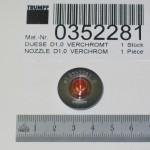 Bico de Corte D1,0mm - MAQ. S PCS